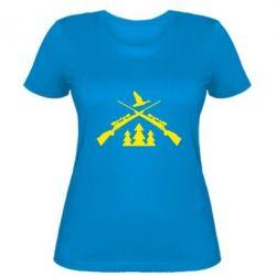 Женская футболка Hunting for ducks