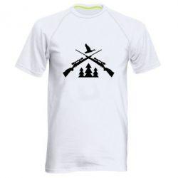 Мужская спортивная футболка Hunting for ducks