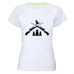 Купить Женская спортивная футболка Hunting for ducks, FatLine