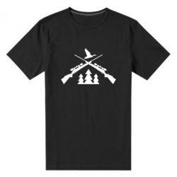 Мужская стрейчевая футболка Hunting for ducks