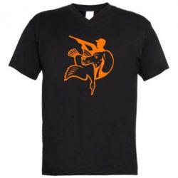 Мужская футболка  с V-образным вырезом Hunting