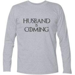 Футболка с длинным рукавом Husband is coming