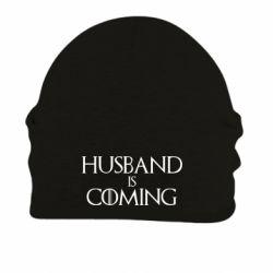 Шапка на флисе Husband is coming