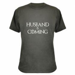 Камуфляжная футболка Husband is coming