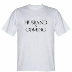 Мужская футболка Husband is coming
