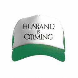 Детская кепка-тракер Husband is coming