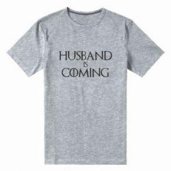Мужская стрейчевая футболка Husband is coming