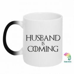 Кружка-хамелеон Husband is coming