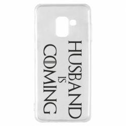 Чехол для Samsung A8 2018 Husband is coming