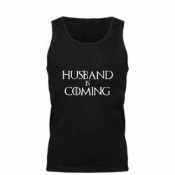 Мужская майка Husband is coming