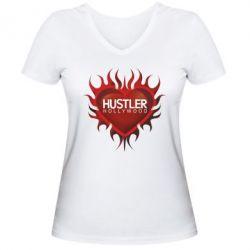 Женская футболка с V-образным вырезом Hustler Hollywood - FatLine