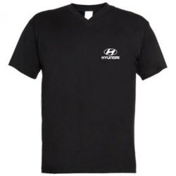Мужская футболка  с V-образным вырезом Hyundai Small - FatLine