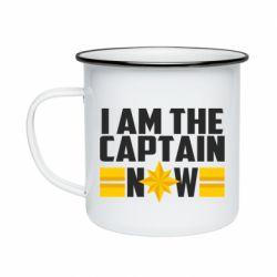 Кружка емальована I am captain now