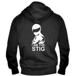 Мужская толстовка на молнии I am the Stig - FatLine