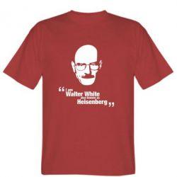 Чоловіча футболка i am walter white also known as гейзенберга
