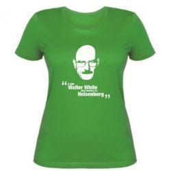 Жіноча футболка i am walter white also known as гейзенберга