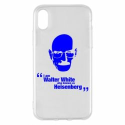 Чехол для iPhone X/Xs i am walter white also known as heisenberg