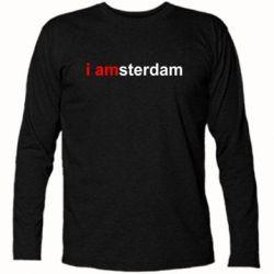 Футболка с длинным рукавом I amsterdam - FatLine