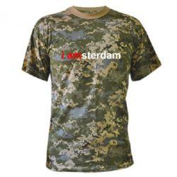 Камуфляжна футболка I amsterdam