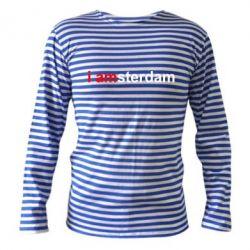 Тельняшка с длинным рукавом I amsterdam - FatLine