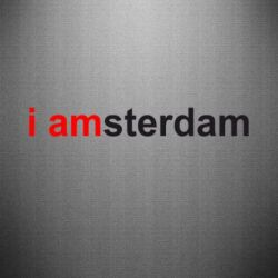 Наклейка I amsterdam - FatLine