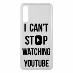 Чохол для Samsung A7 2018 I can't stop watching youtube