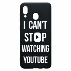 Чохол для Samsung A30 I can't stop watching youtube
