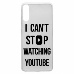 Чохол для Samsung A70 I can't stop watching youtube
