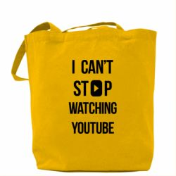 Сумка I can't stop watching youtube