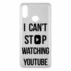 Чохол для Samsung A10s I can't stop watching youtube