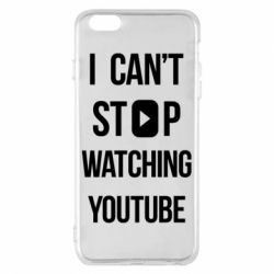 Чохол для iPhone 6 Plus/6S Plus I can't stop watching youtube