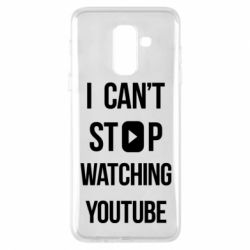 Чохол для Samsung A6+ 2018 I can't stop watching youtube