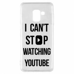 Чохол для Samsung A8 2018 I can't stop watching youtube