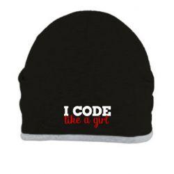 Шапка I code like a girl