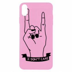 Чехол для iPhone X/Xs I don't care 1