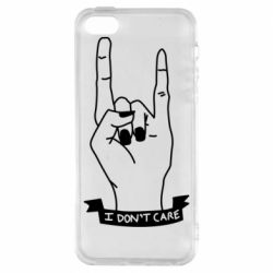 Чехол для iPhone5/5S/SE I don't care 1