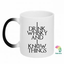 Кружка-хамелеон I drink whisky and I know things