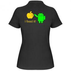 Женская футболка поло I fixed it! Android - FatLine