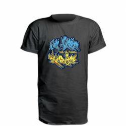 Удлиненная футболка I from Ukraine Graffiti