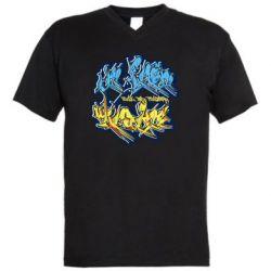 Мужская футболка  с V-образным вырезом I from Ukraine Graffiti