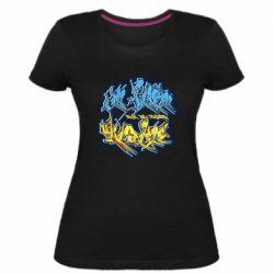 Женская стрейчевая футболка I from Ukraine Graffiti