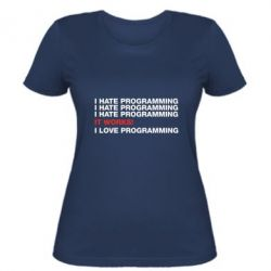 Женская футболка I hate programming