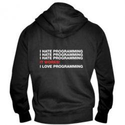 Мужская толстовка на молнии I hate programming