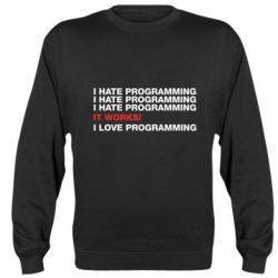 Реглан (свитшот) I hate programming