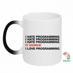 Кружка-хамелеон I hate programming