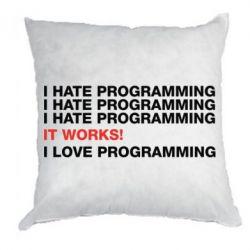 Подушка I hate programming