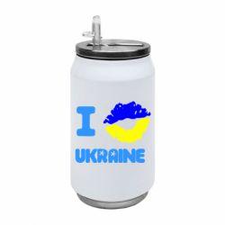 Термобанка 350ml I kiss Ukraine