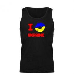 Мужская майка I kiss Ukraine - FatLine