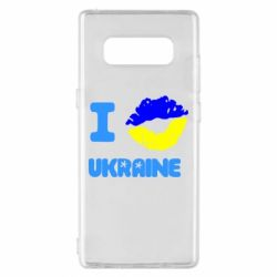 Чехол для Samsung Note 8 I kiss Ukraine - FatLine