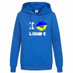 Женская толстовка I kiss Ukraine - FatLine